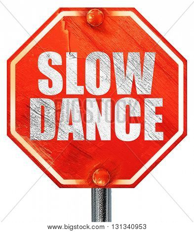 slow dance, 3D rendering, a red stop sign