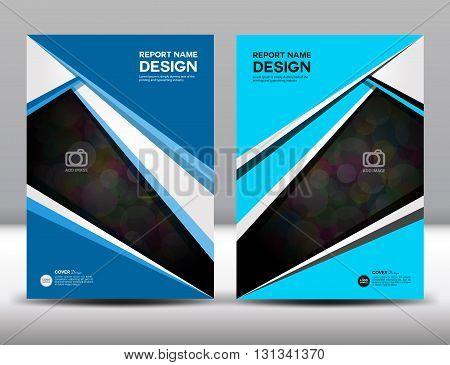 Set Blue Cover Annual report design vector illustration cover template brochure flyer template poster booklet leaflet