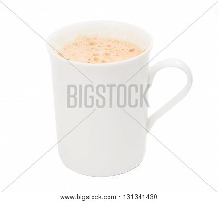 classical coffee cappuccino isolated on white background