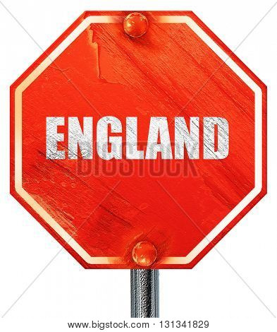 england, 3D rendering, a red stop sign