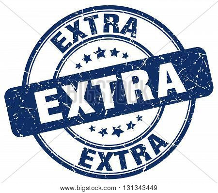 Extra Blue Grunge Round Vintage Rubber Stamp.extra Stamp.extra Round Stamp.extra Grunge Stamp.extra.