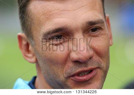 Coach Of Ukraine National Football Team Andriy Shevchenko