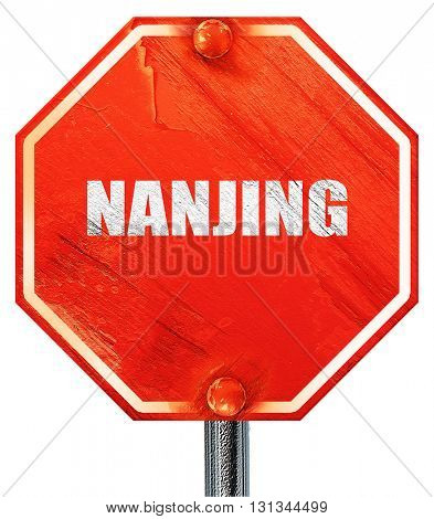 nanjing, 3D rendering, a red stop sign
