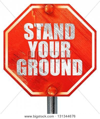 stand your ground, 3D rendering, a red stop sign