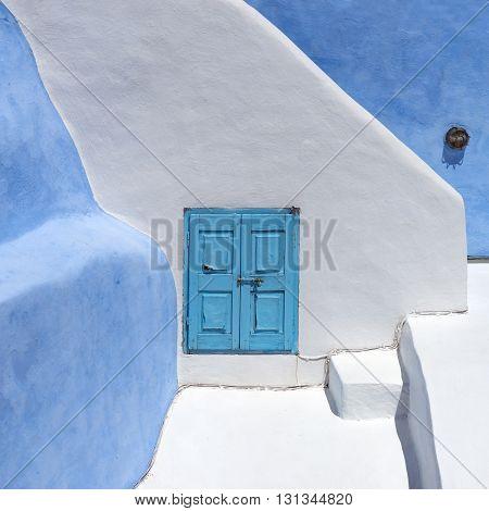 Architecture on the island of Santorini, Greece
