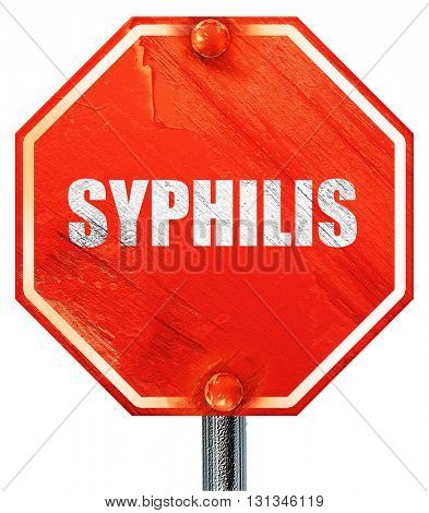 syphilis, 3D rendering, a red stop sign