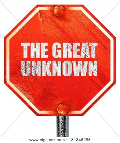 the great unknown, 3D rendering, a red stop sign