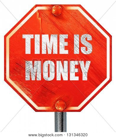 time is money, 3D rendering, a red stop sign
