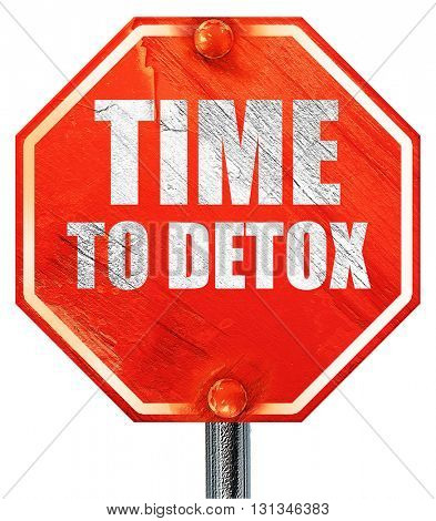 time to detox, 3D rendering, a red stop sign