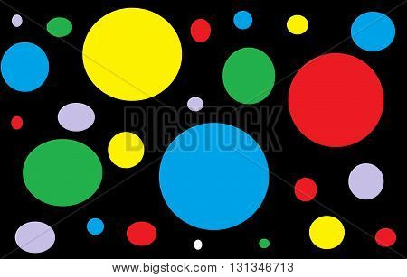irregular colored circle on a black background