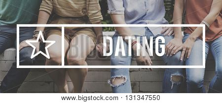 Date Dating Double date Partner Sweet Concept