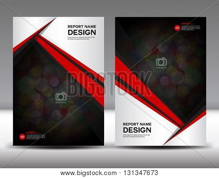 Set White and red Cover Annual report design cover design polygon background book cover brochure flyer template poster booklet leaflet