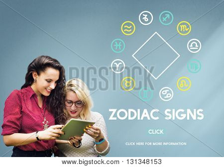 Zodiac Signs Prediction Horoscope Astrological Concept