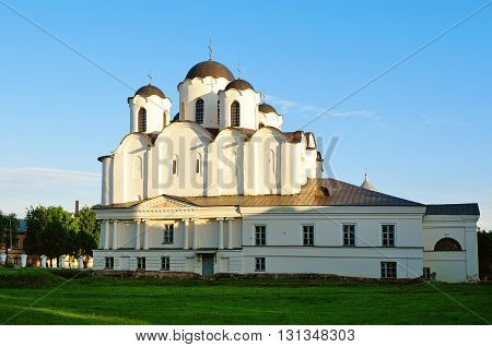 St. Nicholas Cathedral - one of the oldest churches of Novgorod at the Yaroslav Courtyard Veliky Novgorod Russia