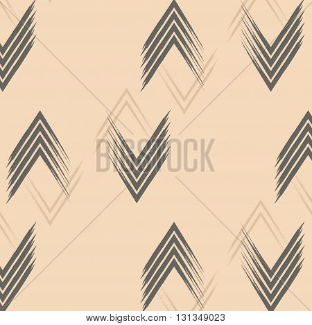 zig zag pattern chewron beige abstract waves lines repeat cover print illustration. Can be used in marketing, fashion