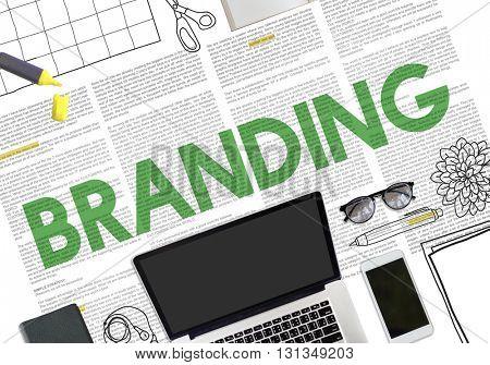Branding Advertising Marketing Profile Label Concept