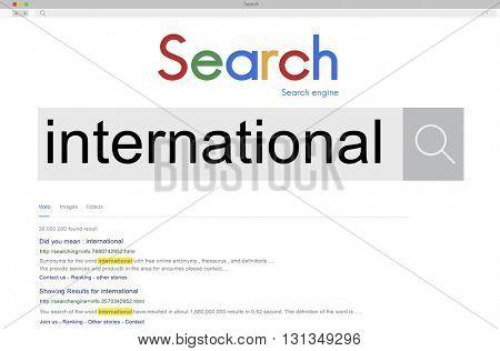 International Worldwide Exchange Import Export Concept