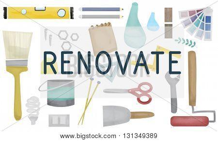 Renovate Decorating Construction Composition Concept