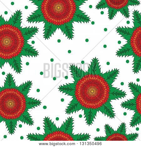 Seamless with isolated bright abstract flower. Vector illustration seamless for banner card invitation textile fabric wrapping paper.