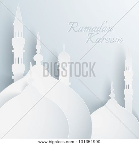 Paper graphic of islamic mosque.