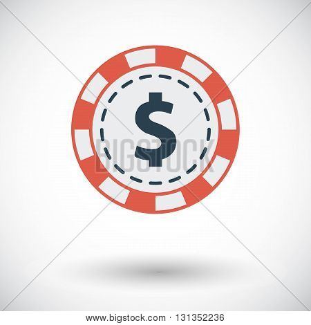 Gambling chips icon. Flat vector related icon for web and mobile applications. It can be used as - logo, pictogram, icon, infographic element. Vector Illustration.