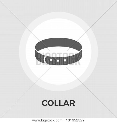 Collar icon vector. Flat icon isolated on the white background. Editable EPS file. Vector illustration.