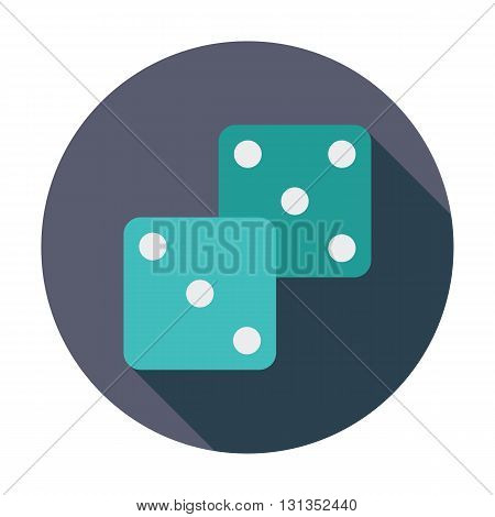 Craps icon. Flat vector related icon whit long shadow for web and mobile applications. It can be used as - logo, pictogram, icon, infographic element. Vector Illustration.