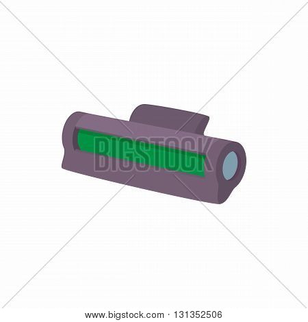 Printer toner cartridge icon in cartoon style on a white background