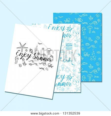 Templates with holiday symbols. Blue, white color. For your design, announcements, greeting cards, posters, advertisement.