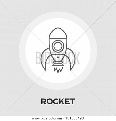 Rocket icon vector. Flat icon isolated on the white background. Editable EPS file. Vector illustration.