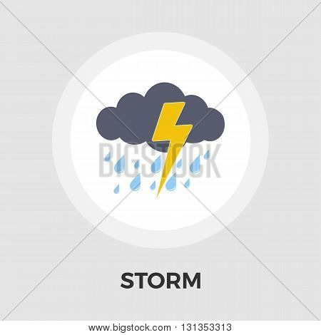 Storm icon vector. Flat icon isolated on the white background. Editable EPS file. Vector illustration.