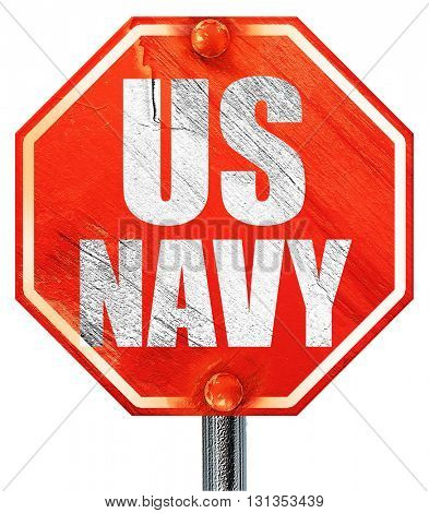 us navy, 3D rendering, a red stop sign