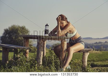 Exhausted Female Runner