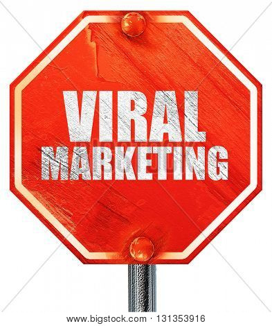 viral marketing, 3D rendering, a red stop sign