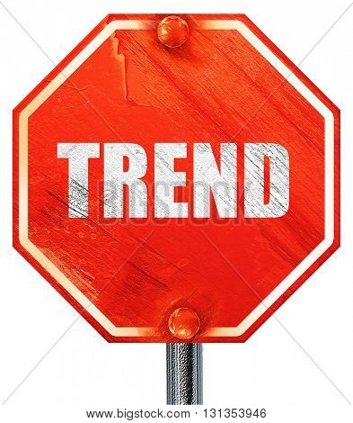 trends, 3D rendering, a red stop sign