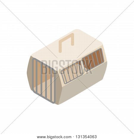 Cage for animals icon in isometric 3d style isolated on white background. Transportation of animals symbol