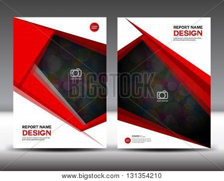 Set Red Cover Annual report design vector illustration cover template brochure flyer template poster booklet leaflet