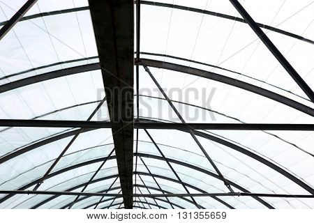 Greenhouse roof steel construction