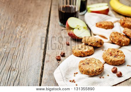 buckwheat apple banana hazelnut dates vegan cookies