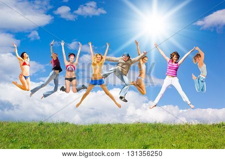 Joyful Celebrating Happy Friends