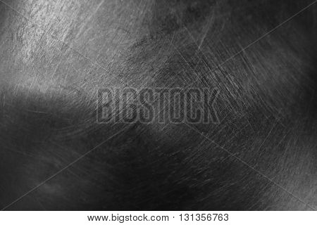 Polished metal background, close up