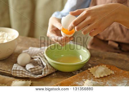 Ravioli cooking