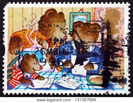 GREAT BRITAIN - CIRCA 1994: a stamp printed in Great Britain shows the Three Bears Fairy Tale circa 1994