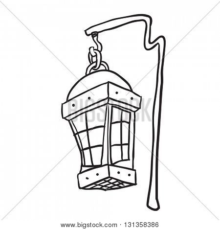 black and white hanging lamp cartoon