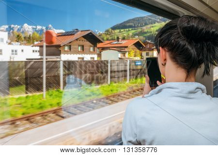 Traveling By Train At The Alpine Railroad