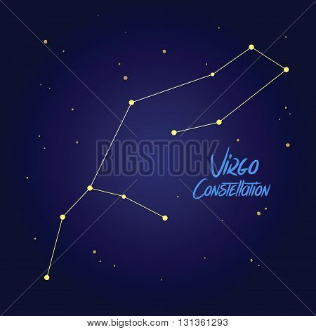 Vector illustration of virgo constellation zodiac symbol