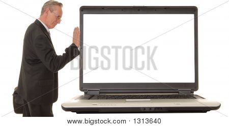 Laptop Senior Businessman