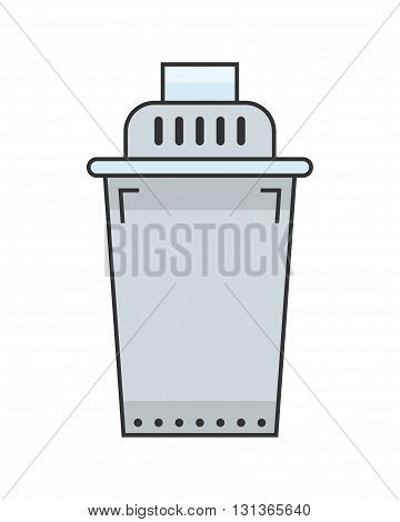 Water filter. Flat color icon and object. Water purification. Vector illustration