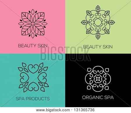 Set of abstract lineart, linear, modern and simple icons