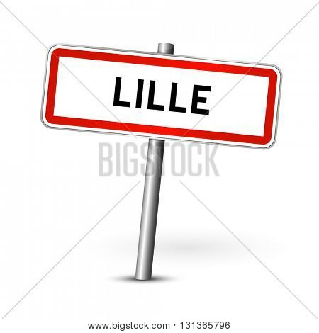 Lille France - city road sign - signage board